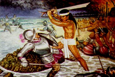 Battle of Mactan, painting by Manuel Pañares