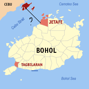 bohol-cebu map