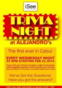 ctn Cebu Trivia Nights