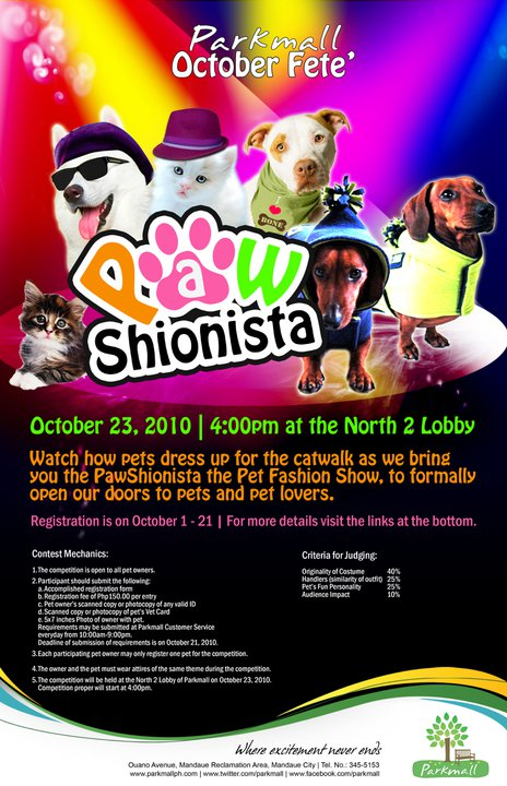 pawshionista Parkmall Presents Pawshionista