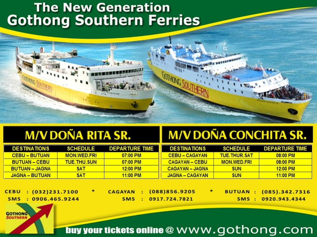 Gothong Southern schedule