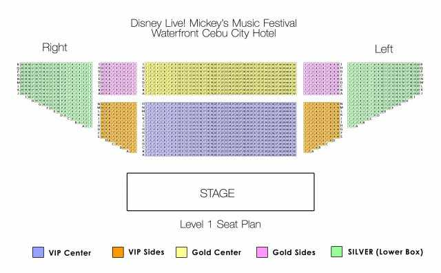 disney seat plan Disney Live! in Cebu