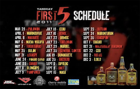 tanduay rhum first five 2011 Tanduay First Five Tour 2011