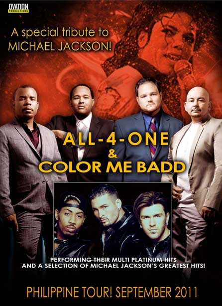 color me badd All 4 One and Color Me Badd Live in Cebu