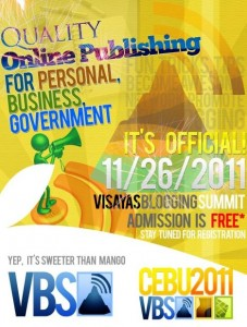 VBS 2011 Poster 227x300 Visayas Blogging Summit 2011