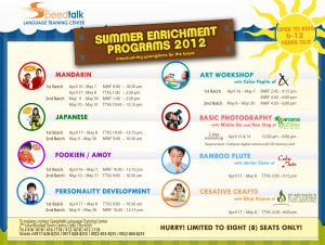 Digital Poster Summer enrichment programs 300x226 Speedtalk Language Training Center