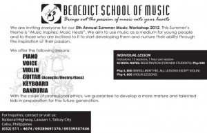 music workshop 300x193 Summer Workshops in Cebu