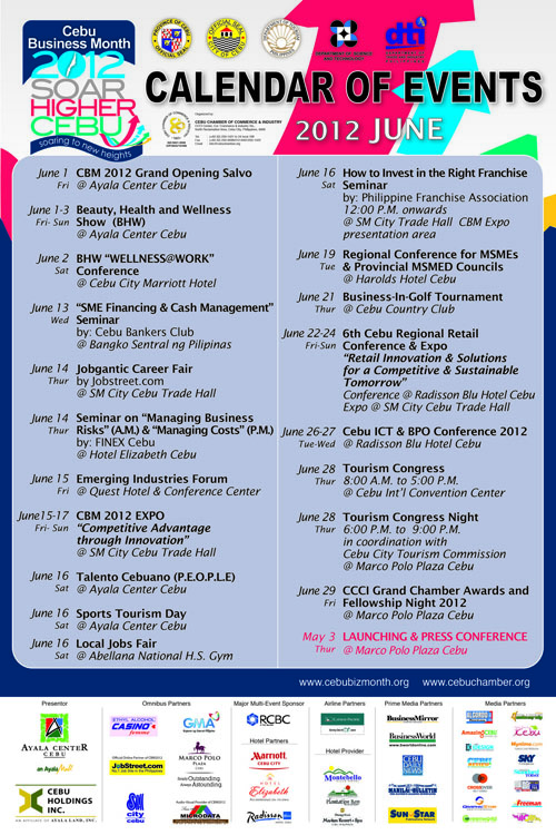 calendar thumb Cebu Business Month 2012