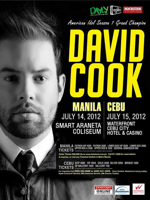 david cook manila David Cook Live in Cebu