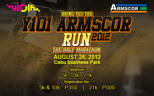 Y101 Armscor Run 2012 Marathons in Cebu   August