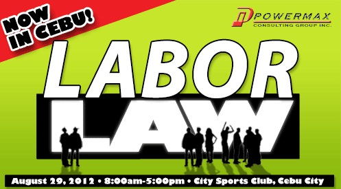 laborlaw Labor Law Seminar in Cebu