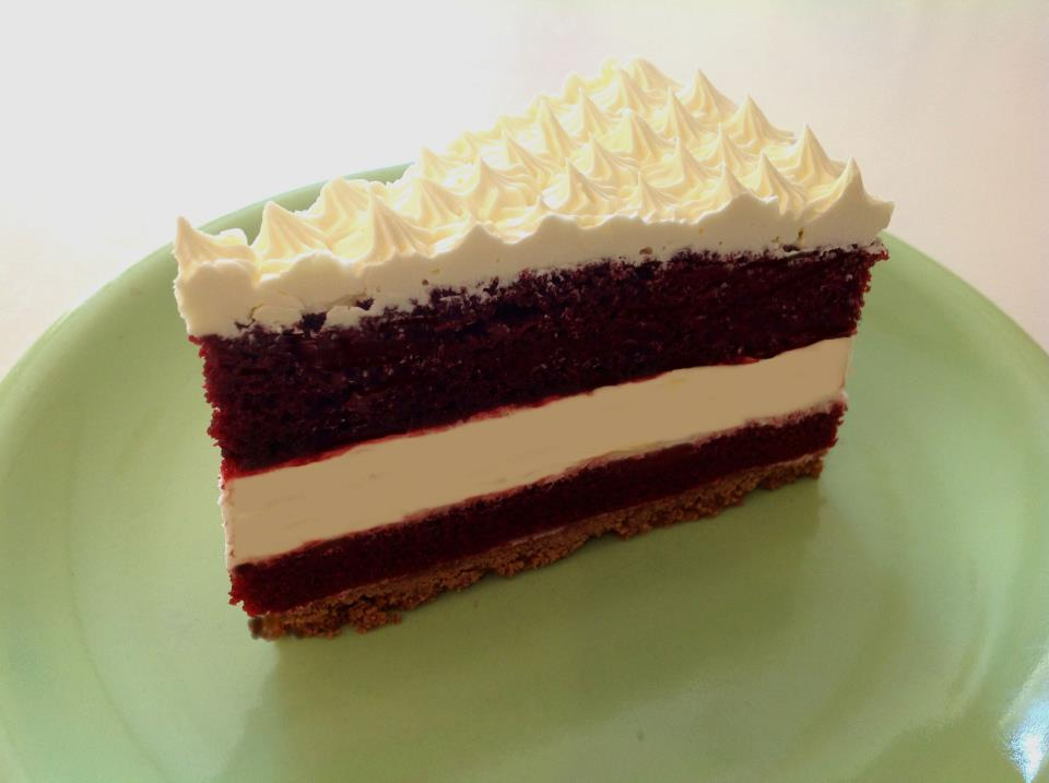 Corner Bakery red velvet cheesecake