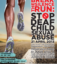 Break the Silence Run Official Poster