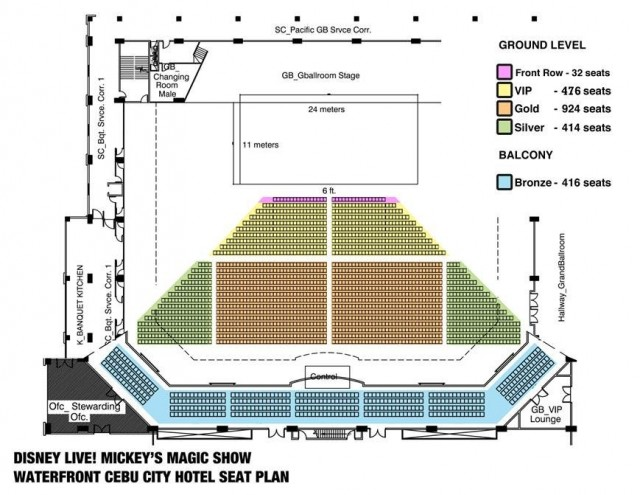 Waterfront Seating Plan
