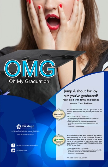 graduation promo from Cebu Parklane Hotel