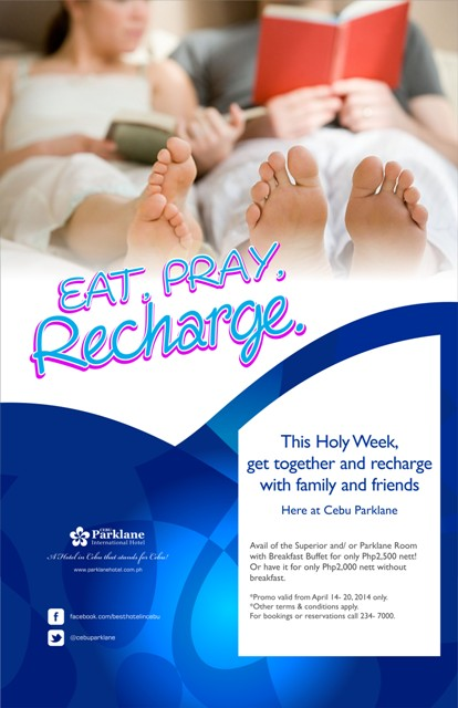 Holy Week promo from Cebu Parklane Hotel