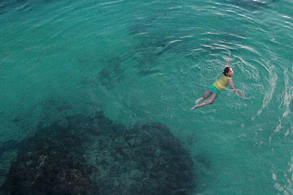 this blue-green swimming spot right here looks just like a huge swimming pool!