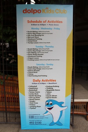 Dolpo Kids Club's schedule of activities