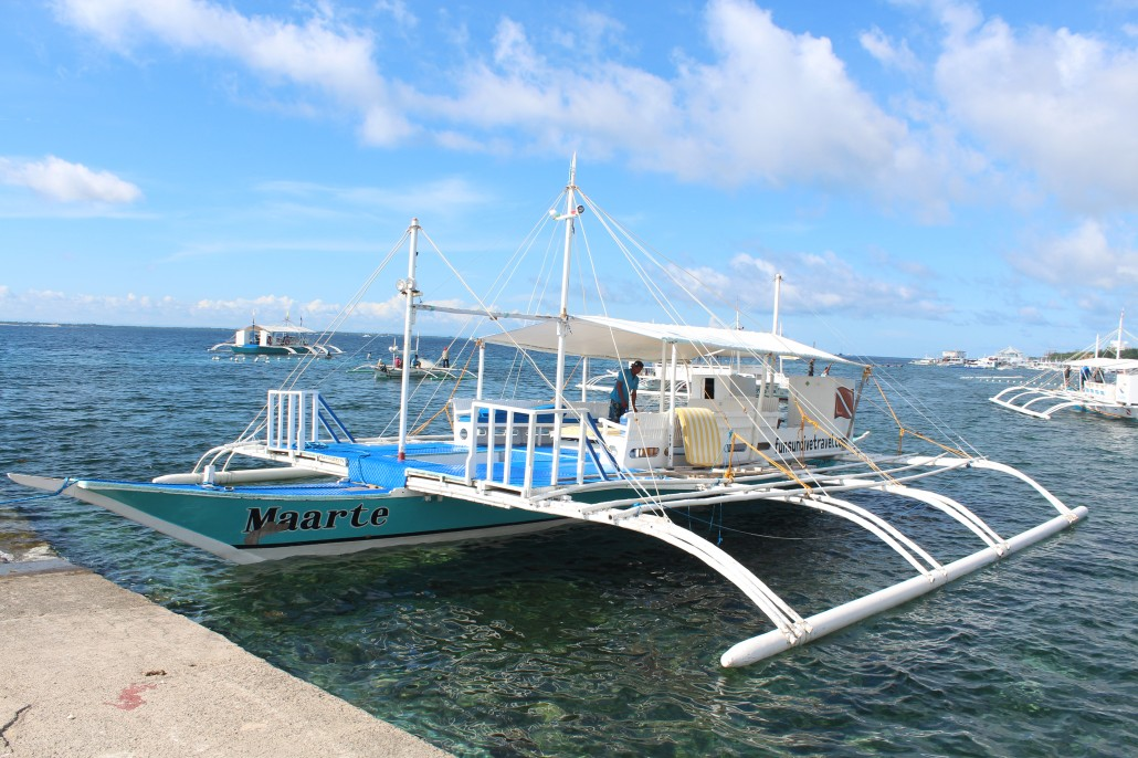 one of the boats used for island hopping