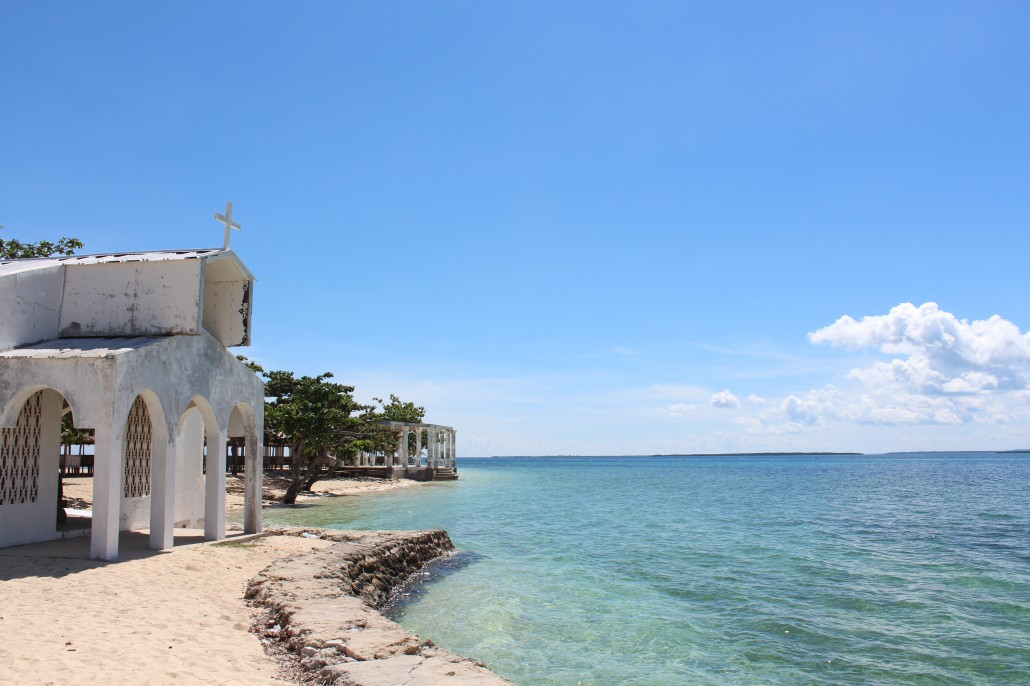 the other side of the island that shows the white temple-like ruins.. perfect for picture taking!