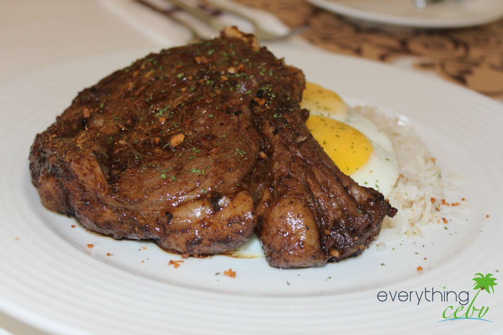 one huge serving of the delicious and famous Prime Rib Tapa sold at P520