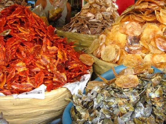 a variety of dried fish in Taboan