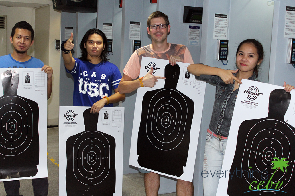 group pic inside USSC's modern firing range