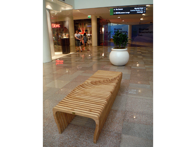one of the modern benches found in Ayala's New Wing; designed by Bernard in collaboration with Vito Selma (image source: http://burbina.com/)