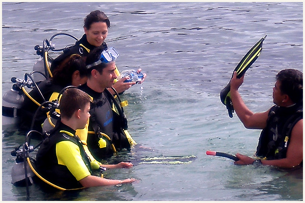 professional diving training given at the resort