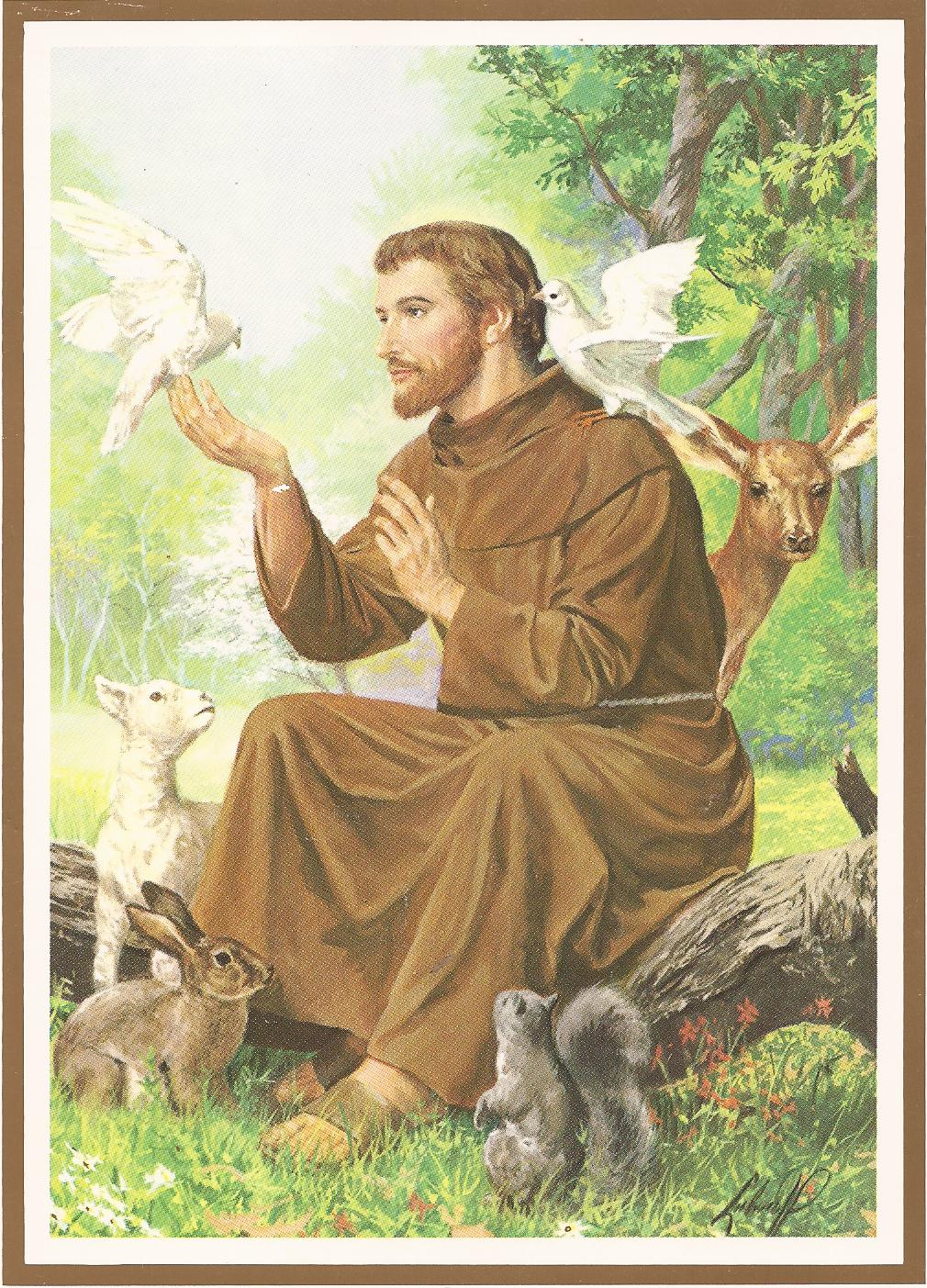 St. Francis of Assisi, the patron saint of animals
