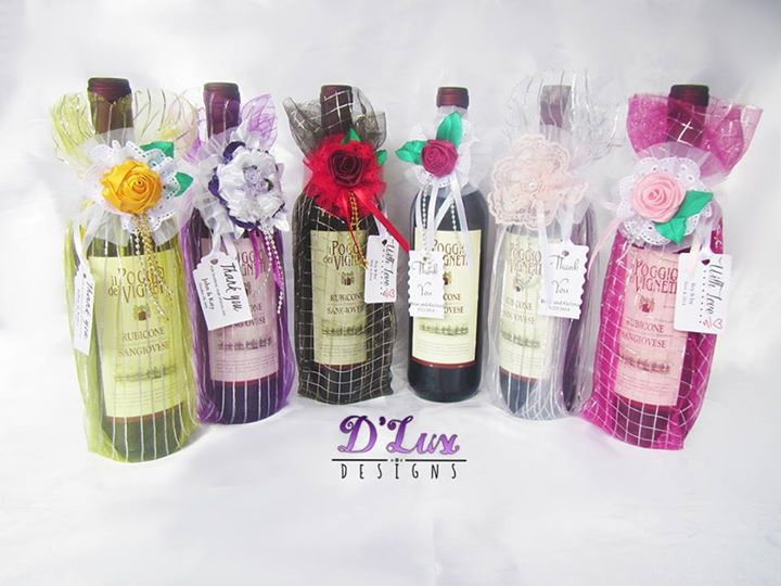 Wedding Giveaways Ideas In Cebu : Lux Designs . Unique Wine Wedding Giveaways and Gift Baskets for ...