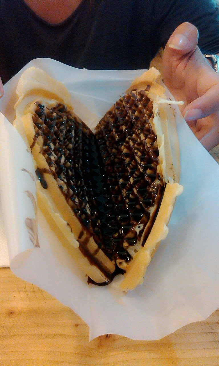 waffle with chocolate filling