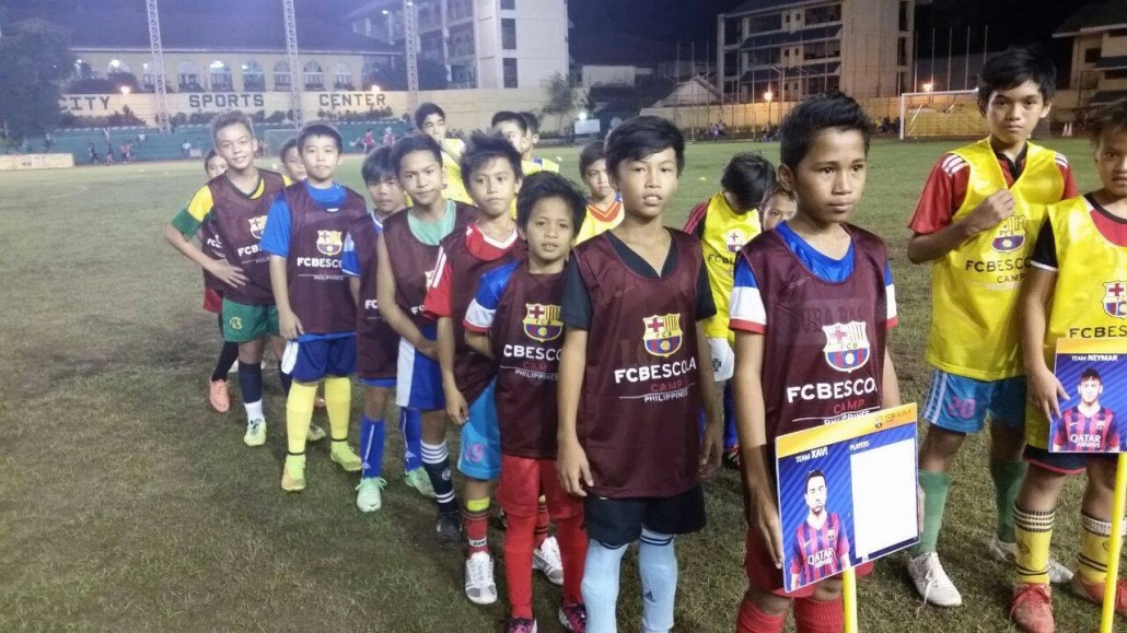 some of the young aspirants during the selection trials last October 2, 2014 in Cebu City Sports Complex (image source: https://www.facebook.com/FcbEscolaPhilippines)
