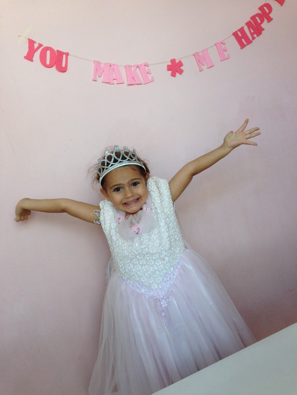 dressing up as a princess in Cafe Tiala