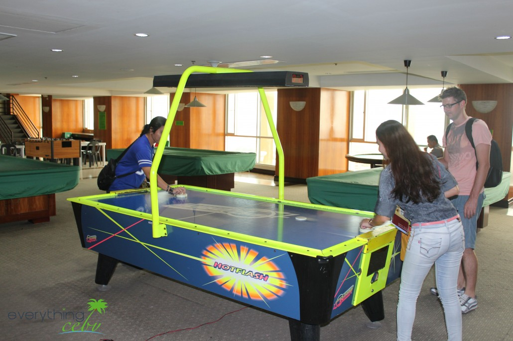 air hockey at the 18th floor