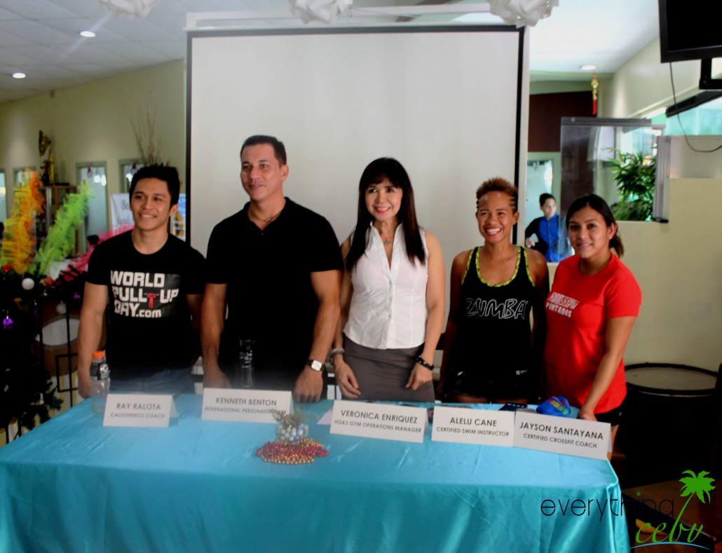 The coaches of Holiday Gym and Spa during the media launch.