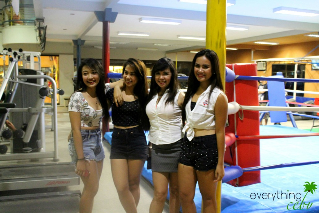 The round girls for the boxing bout last November 8.