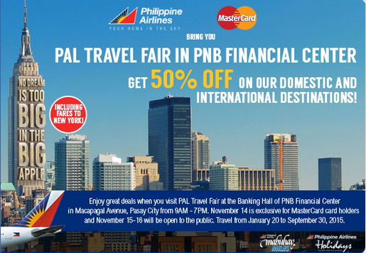 image source: http://1pisofare.com/philippine-airlines-promo-visit-pal-travel-fair-and-get-50-off-for-2015/