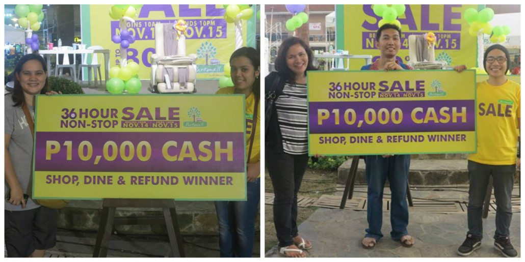 Lucky winners of the cash prizes