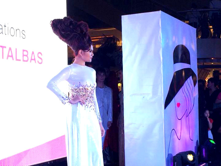 One of the highlights of the event is the Fashion show featuring Danny Katalbas' creations where models with extravagant hairstyles walked in the ramp.