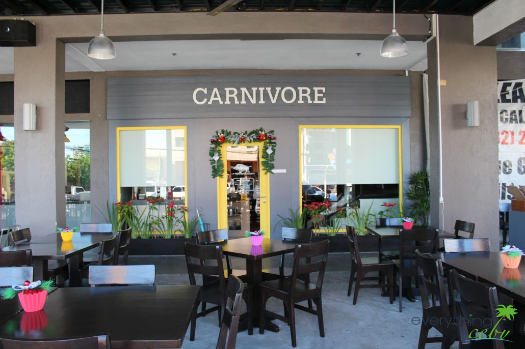 The simple yet striking exterior of Carnivore