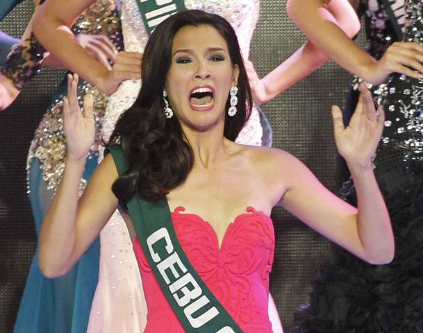 Announcement of her victory as the Ms Philippines Earth 2014 last May