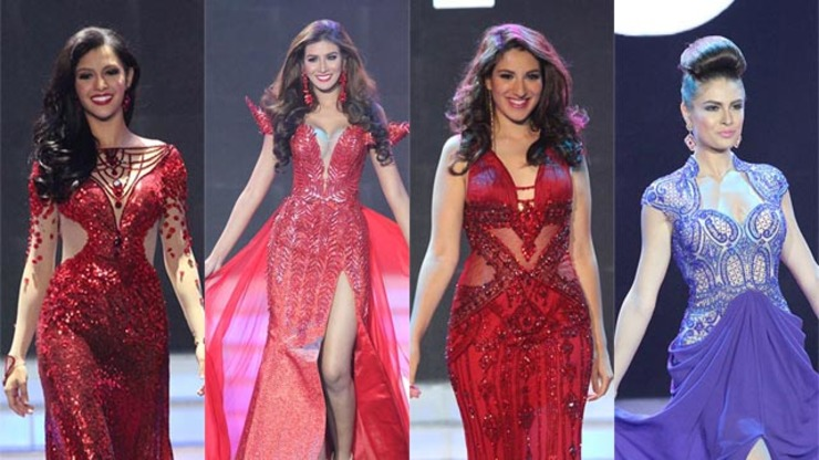 Long Gown Competition with other Ms Earth 2014 candidates