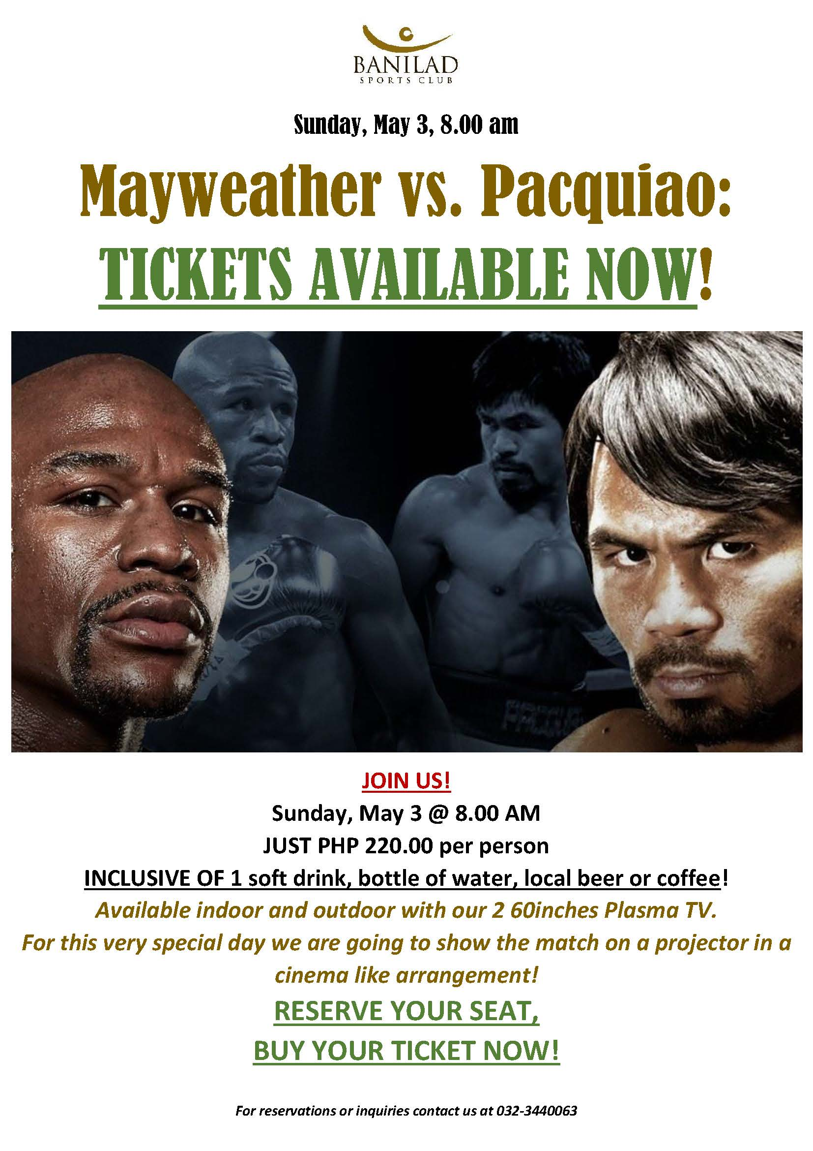 Event May 3 Pacquiao