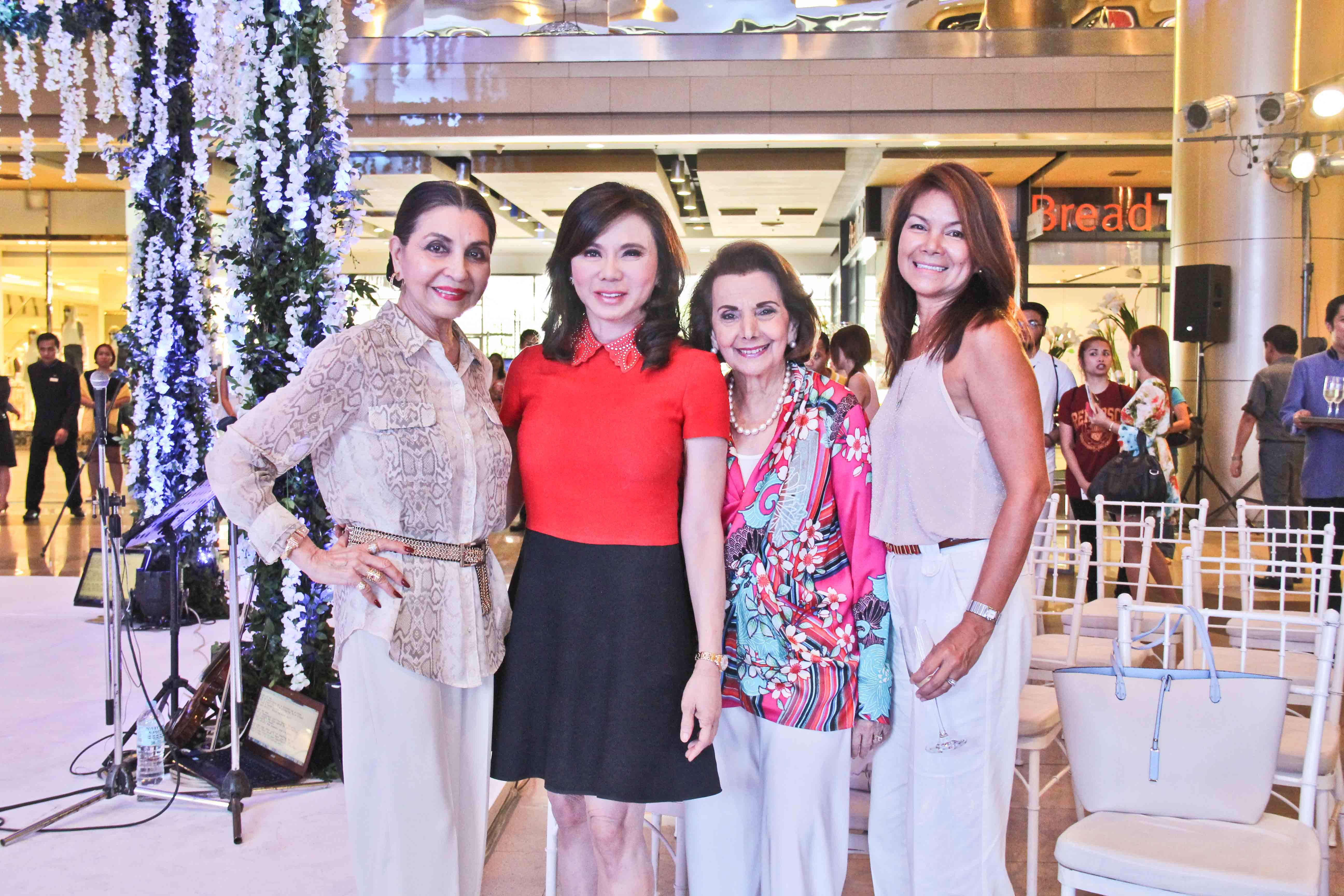 Amparito Lhuillier, Dr. Vicki Belo, Teresin Mendezona, and Rose Hennessy
