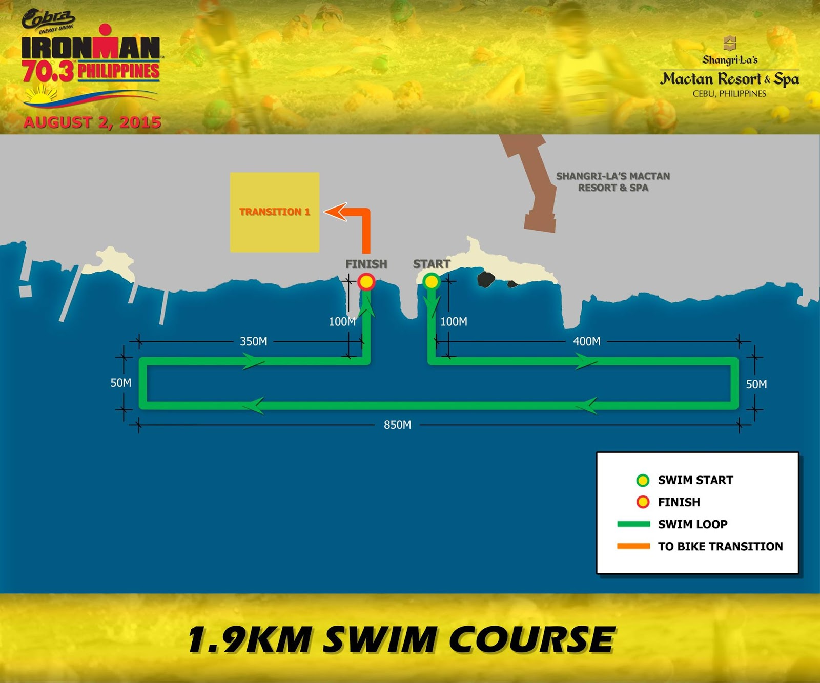 ironman cobra 2015 swim route