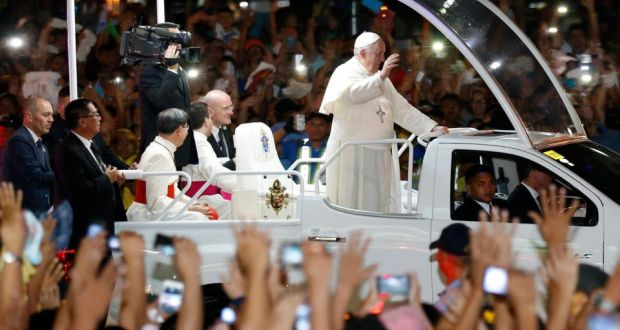 pope wont be at iec