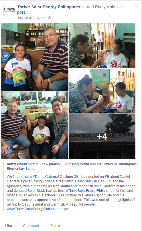 TSE rumy mohta and daniel cabrera fb post