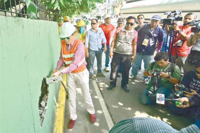 tesda wall demolition archbishop reyes avenue flyover
